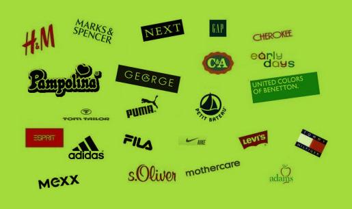 Angol használtruha, legnagyobb angol márkák
